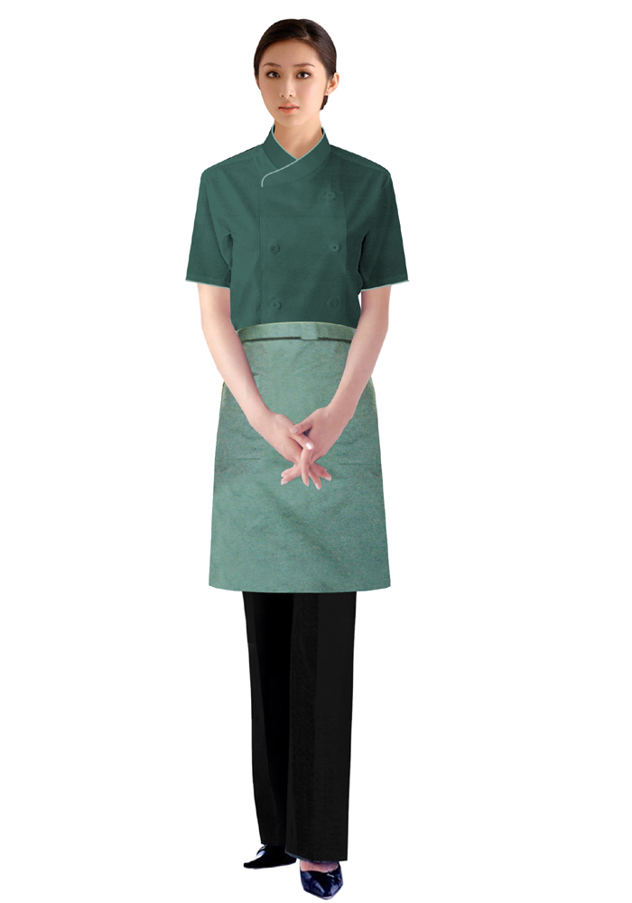 厨工制服女夏装