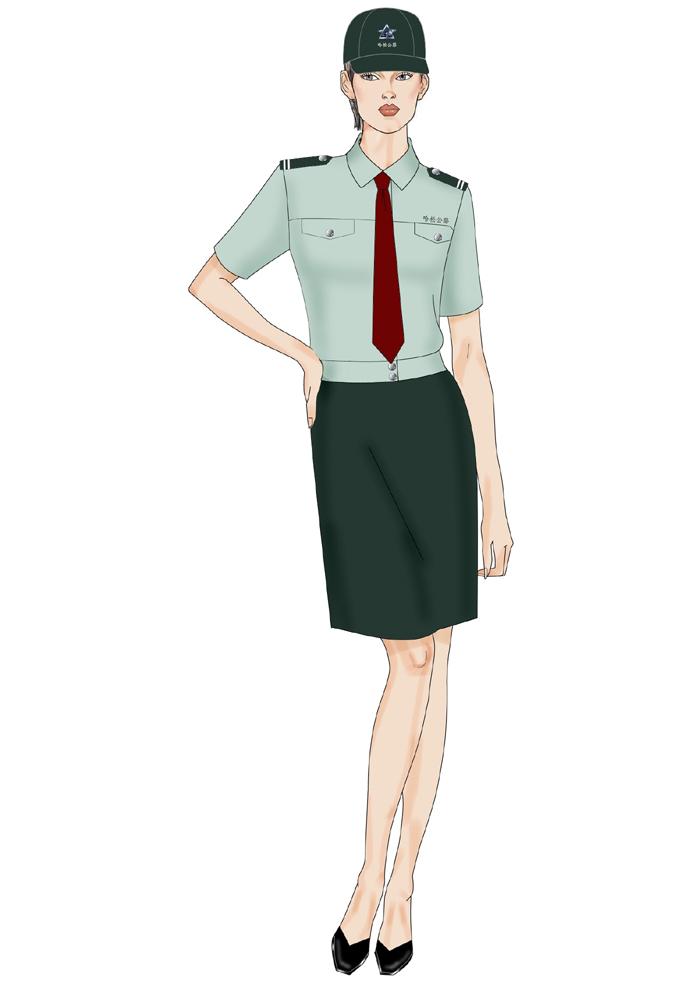 公交短袖裙装