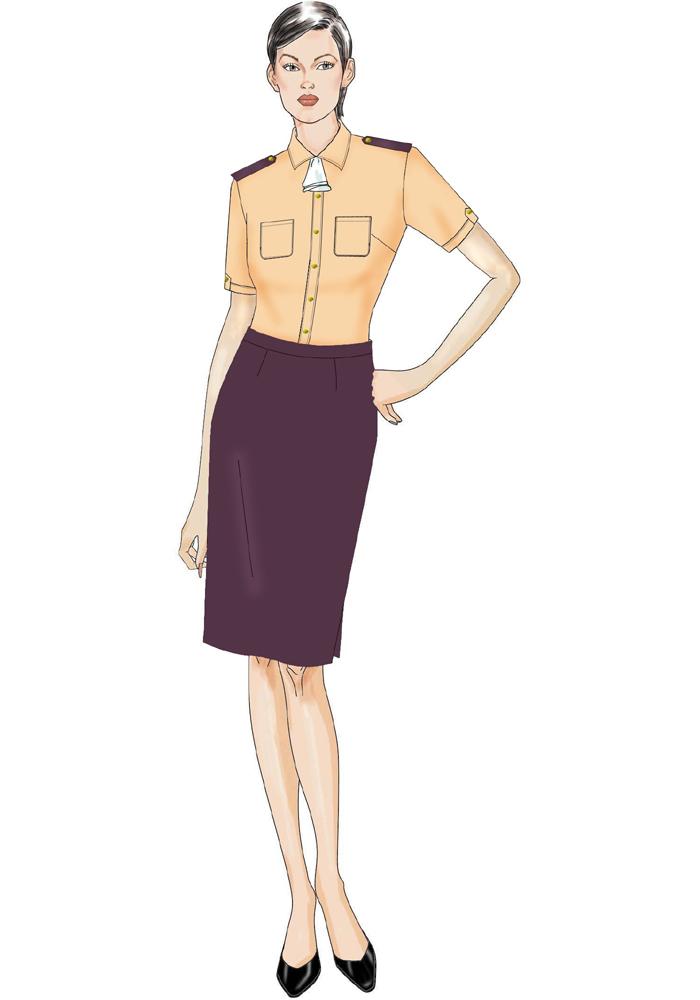 公交短袖短裙