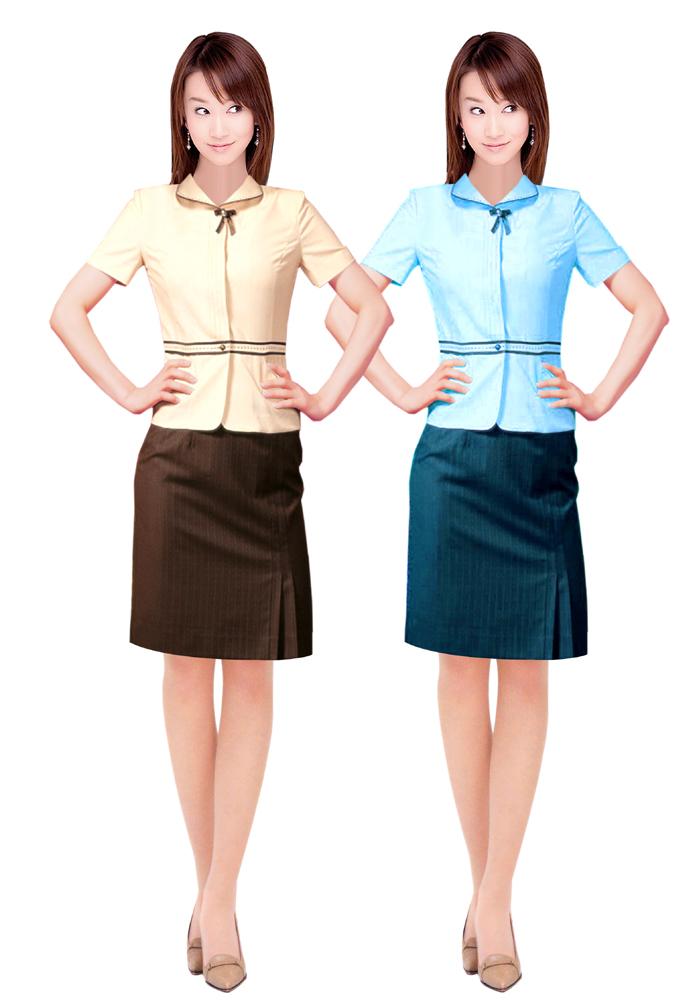 新款女职业装夏装定做