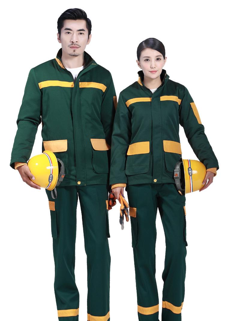 墨绿反光工作服套装