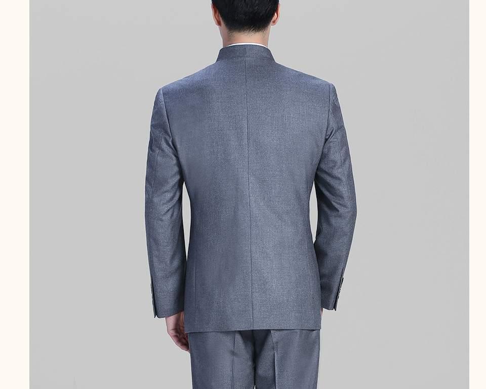 灰色休闲中华立领FX10