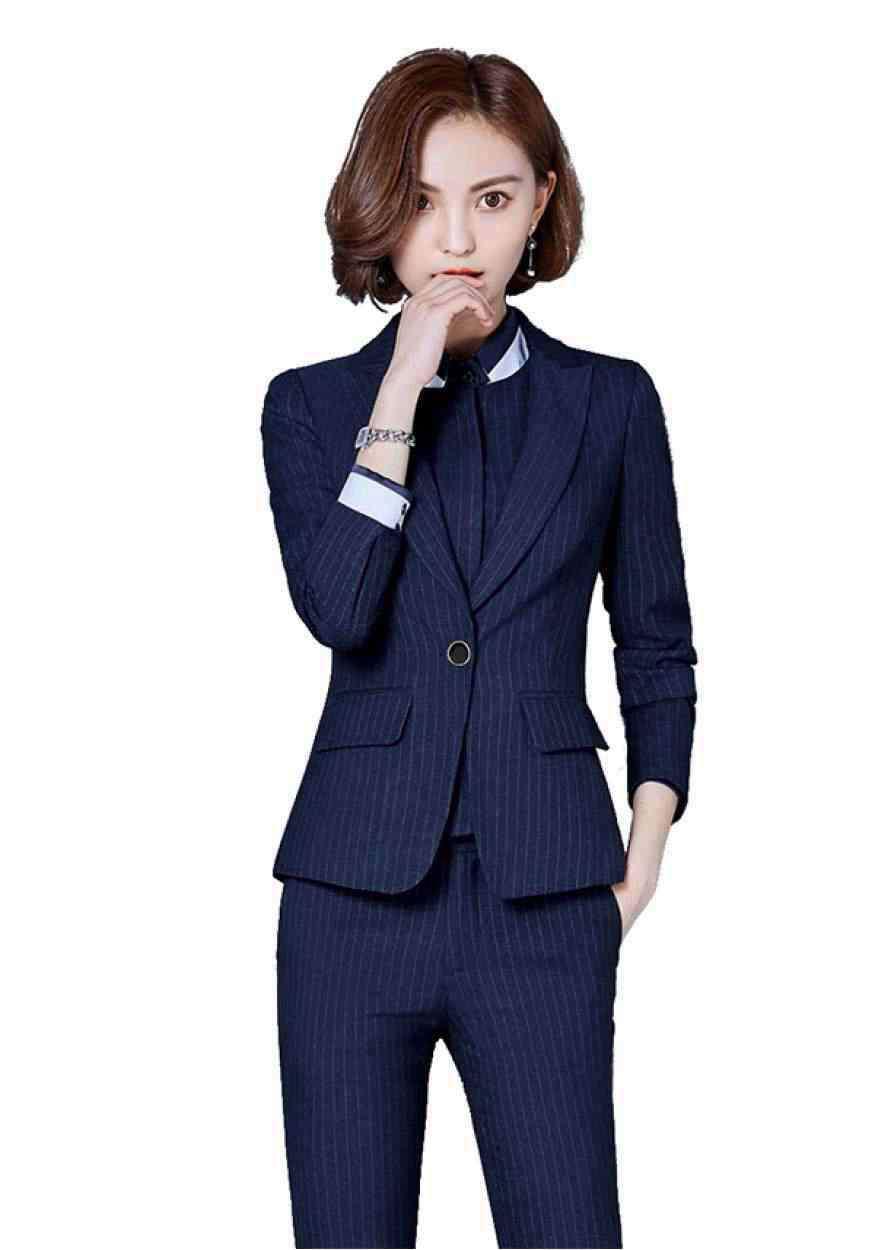 蓝色商务女士西装